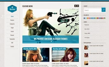 Rocket Blogger Template From SoraTemplates