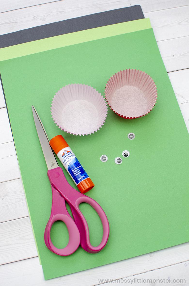 Cupcake liner ladybug craft for kids