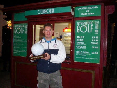 Minigolfer Richard Gottfried - 2009 Blackpool Pleasure Beach Open Champion