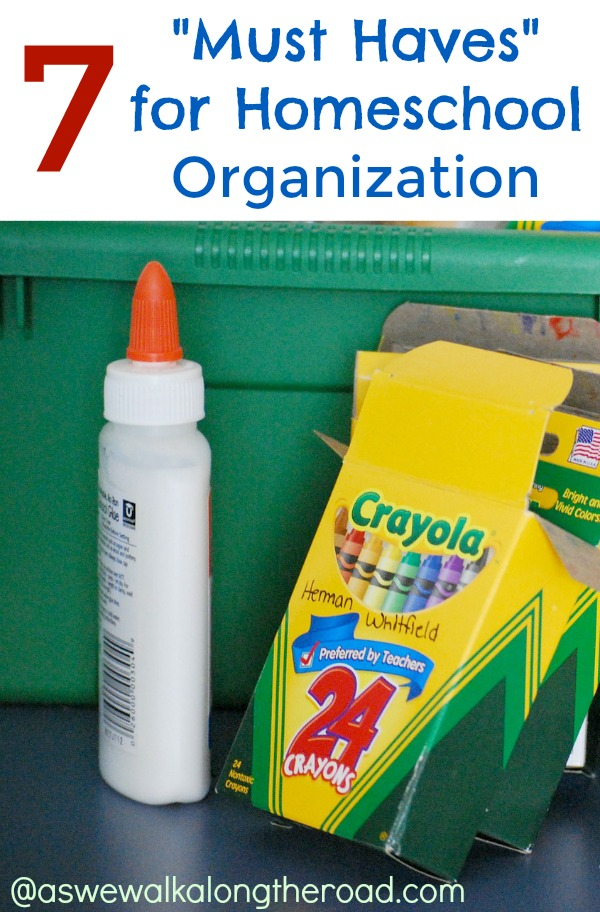 Tools for homeschool organization