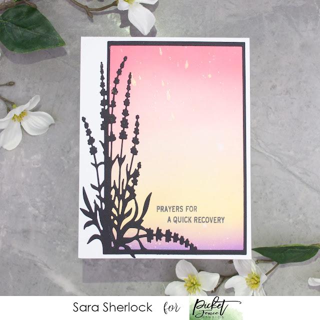 Picket Fence Studios, Lavender Frame Cover Plate, Que Sera Sera, Life Changing Blender Brushes, Distress Oxide ink blending