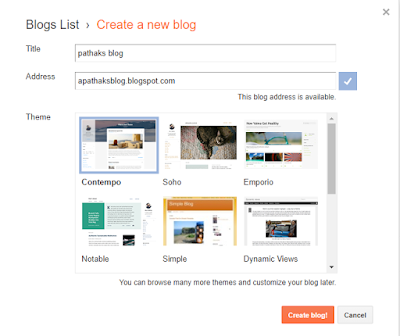 start blogging free, pathaks blog, create blog
