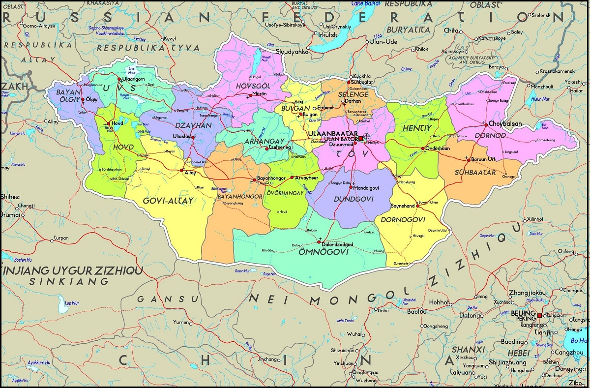 Peta Negara Mongolia