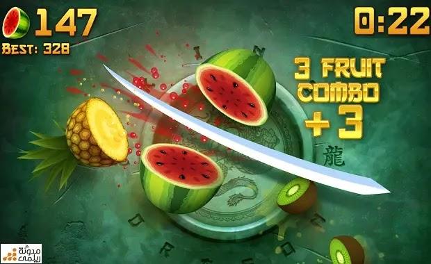 تحميل لعبة تقطيع الفواكه Fruit Ninja للأندرويد