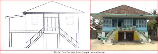 gambar rumah cara gudang palembang sumatera selatan