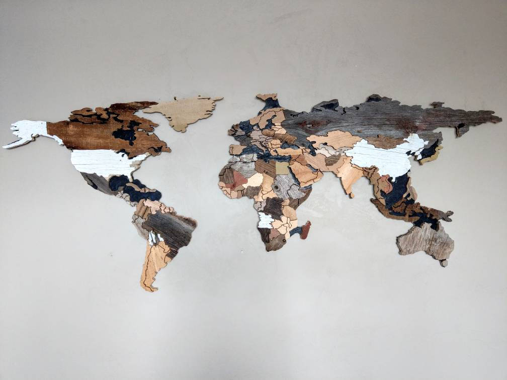 World map art us map art reclaimed wood art by susan marie may reclaimed wood world map with countries by susan marie may gumiabroncs Choice Image