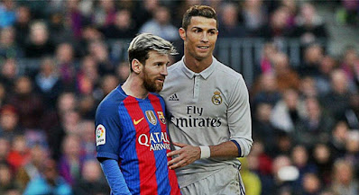 Messi Ronaldo estrellas fútbol