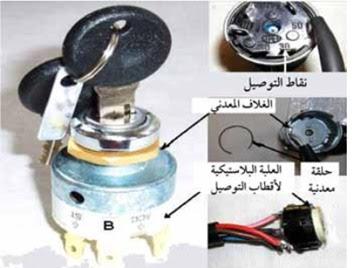 مكونات مفتاح التشغيل