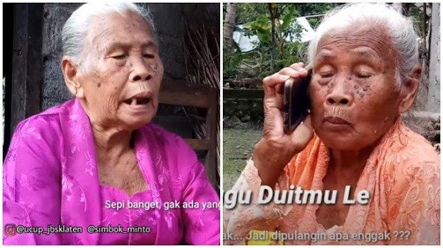 Mbah Minto, Nenek dari Klaten yang Viral Gara-gara Video Parodi Larangan Mudik, Ini Fakta-faktanya