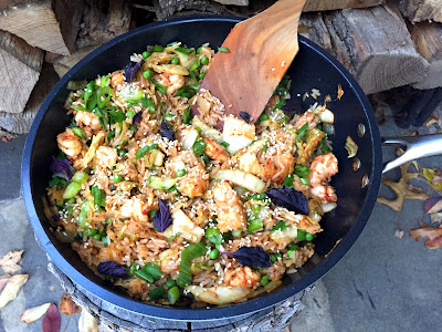 Stacey Snacks: Kimchi Shrimp Fried Rice