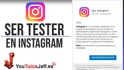 convertirse en tester instagram