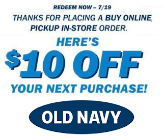 Free 10 Old Navy Coupon With Any Store Pickup Order Heavenly Steals