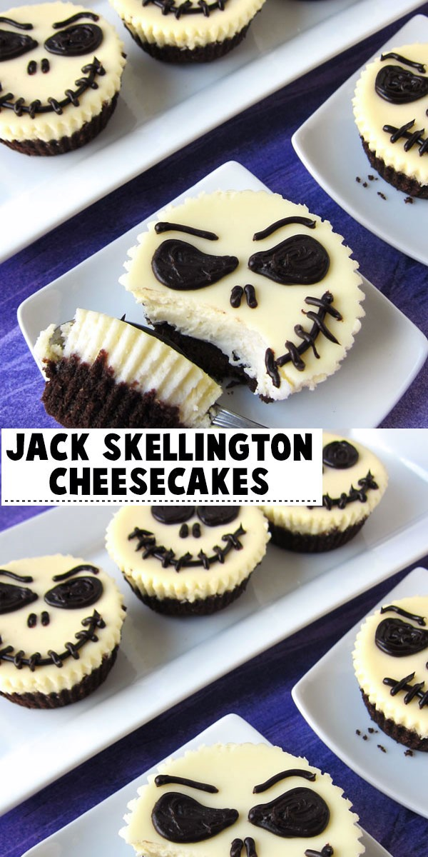 Jack Skellington Cheesecakes #halloweenrecipes