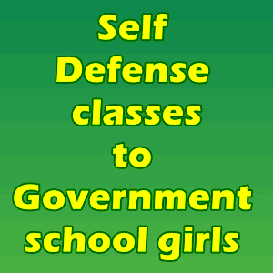 Self Defense classes to Government school girls