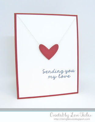 Sending You My Love card-designed by Lori Tecler/Inking Aloud-stamps and dies from Lil' Inker Designs
