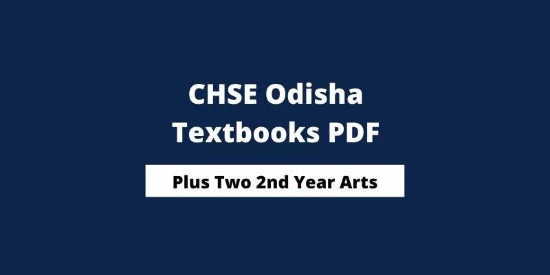 CHSE Odisha Plus Two 2nd Year Arts Books PDF Download