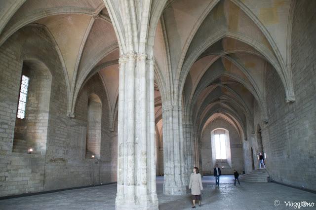 La Sala delle Grandi Udienze nel Palazzo dei Papi di Avignone