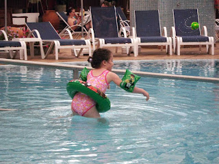 Chloe in Pool in Tenerife