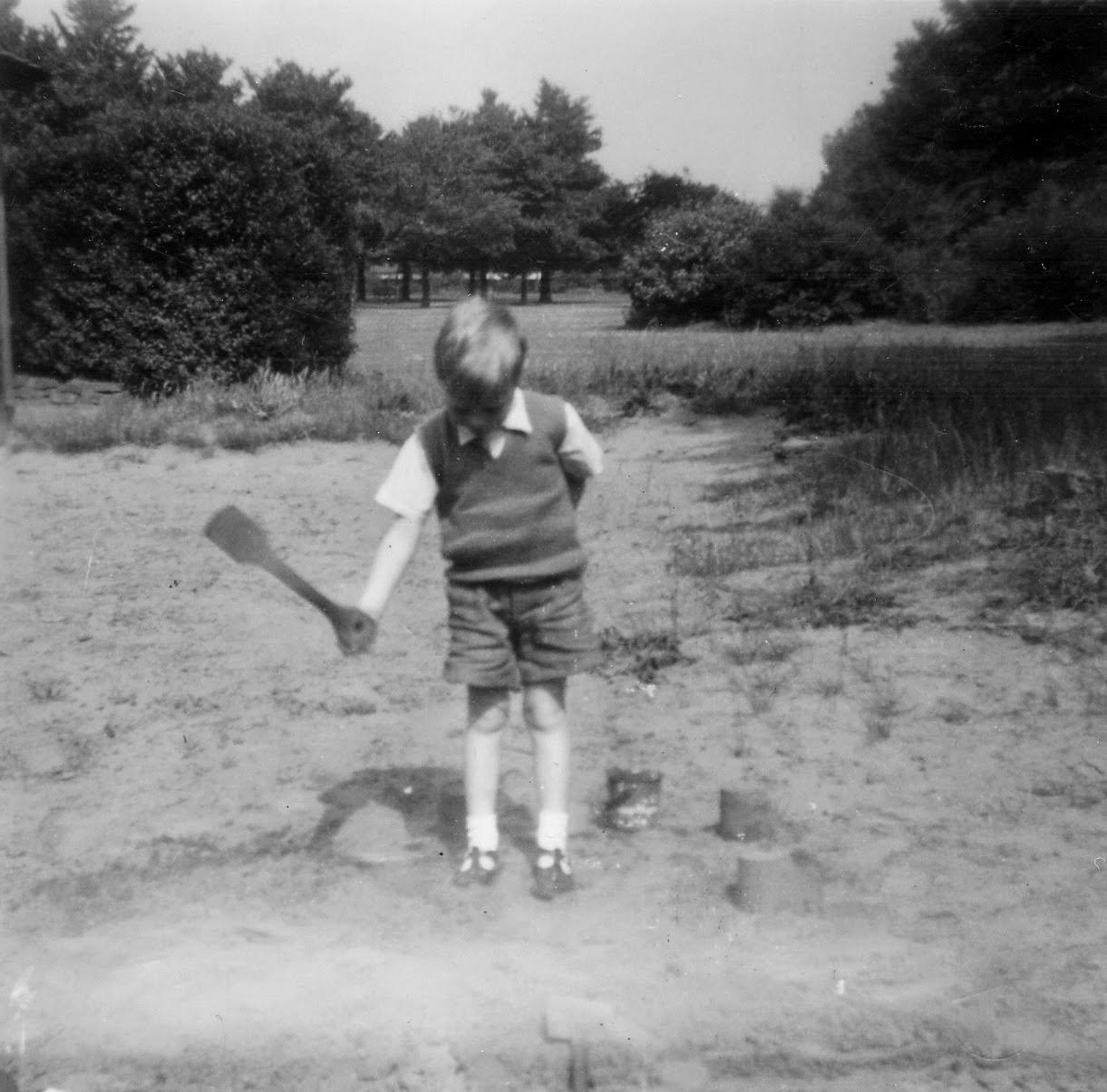 Public park sand pit 1954