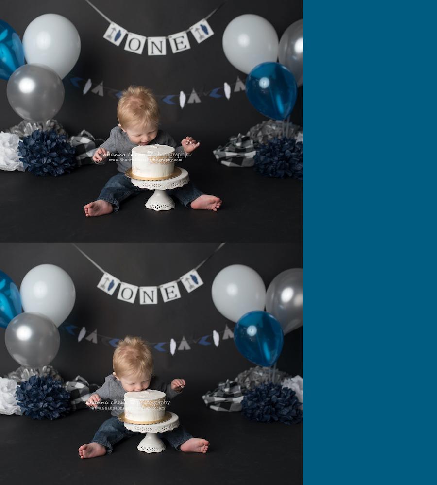 eugene oregon cake smash photographer
