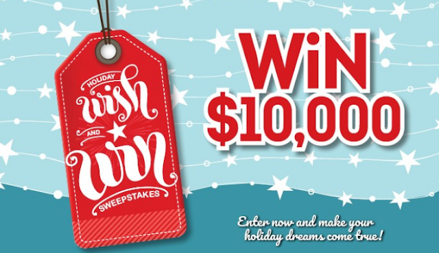 Here are some instructions about how to enter the Holiday Wish and Win Sweepstakes for your chance to win some really great prizes!