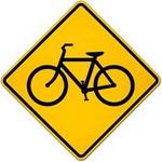 bicycle traffic warning in spanish