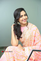 Actress Ritu Varma Pos in Beautiful Pink Anarkali Dress at at Keshava Movie Interview .COM 0195.JPG