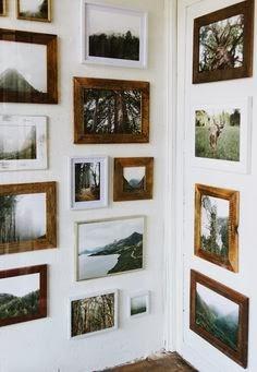 cuadros con marcos de madera toque campestre