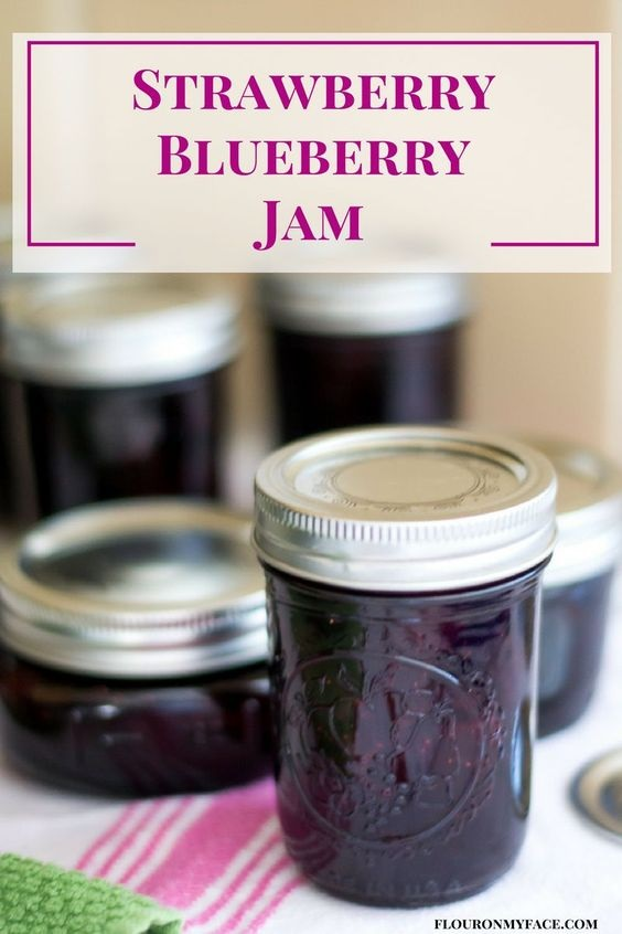 How To Make Homemade Strawberry Blueberry Jam Or Mixed Berry Preserves