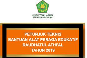 Juknis Alat Peraga Edukatif (APE) Madrasah RA Tahun 2019