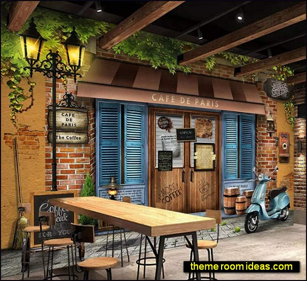 Paris Cafe Mural french bistro kitchen french country decorating paris style