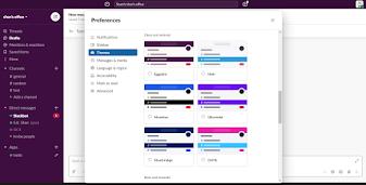 右圖:Slack擁有時尚的設計感與色彩鮮明的配色。