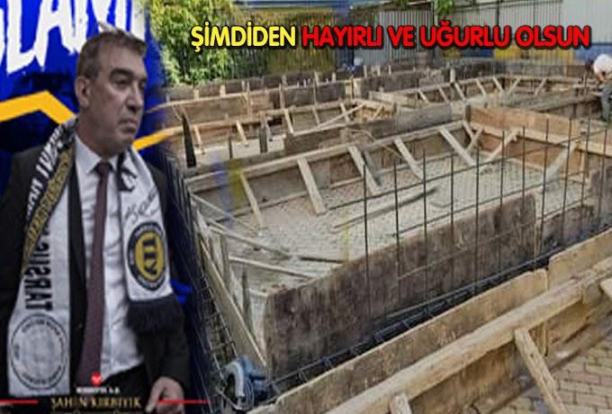 Başkan Kırbıyık,Tarsus İdman Yurdu'na Yeni Bir Tesis İçin Kazmayı Vurdu