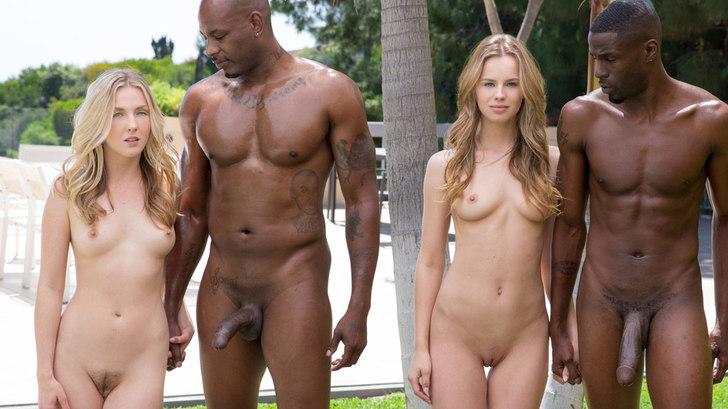 Blacked - Interracial Foursome for Two Beautiful Blonde Girls - Jillian Janson, Karla Kush