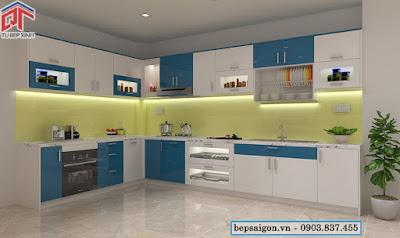 tu bep, tủ bếp thông minh, nội thất tủ bếp, tủ bếp acrylic