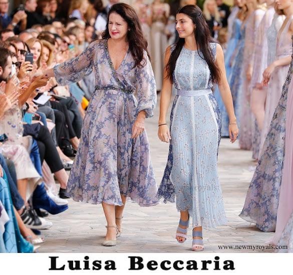Beatrice Borromeo wore Luisa Beccaria Dress from Spring-Summer 2017