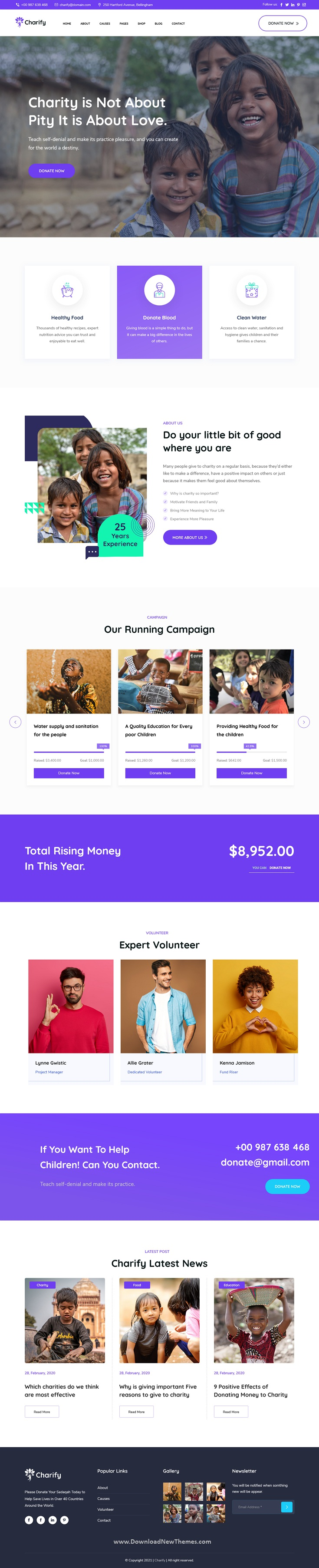 Fundraising & Donation WordPress Theme