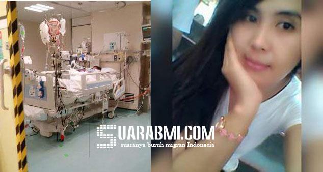 Infeksi Otak, TKW Ini Koma Di Rumah Sakit Queen Elisabeth Hongkong