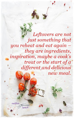 my philosophy on leftover food