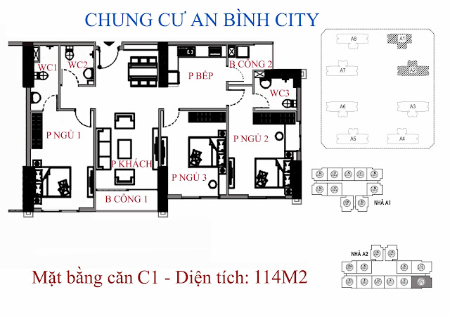 Căn C1 114m An Bình City