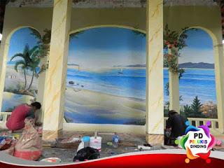 jasa lukis dinding pemandangan pantai daerah jakarta utara