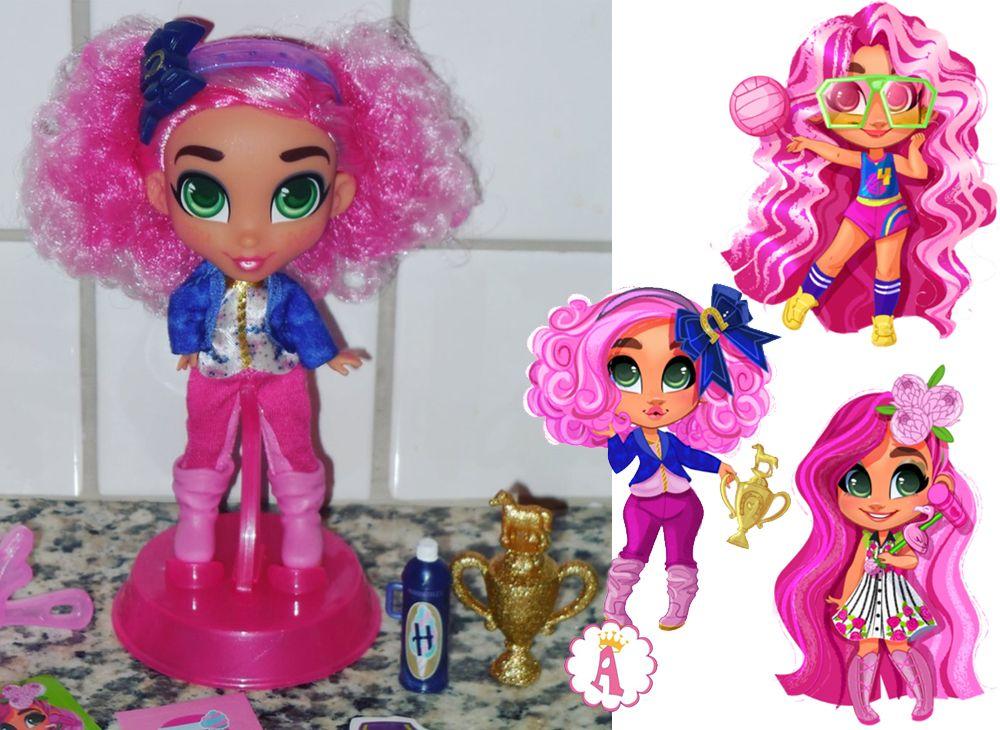 Кукла Брит с розовыми волосами Хэрдораблс четвертая серия