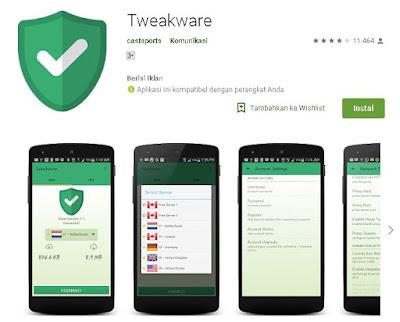 cara merubah kuota maxstream dengan aplikasi tweakware