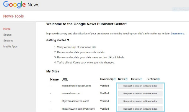Cara Daftar Google News 1