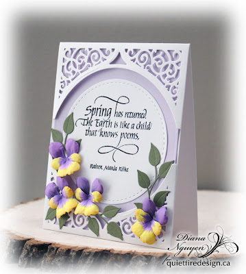 Diana Nguyen, Quietfire Design, Spring has returned, Swirl Bliss, Pansy, Elizabeth Craft Design