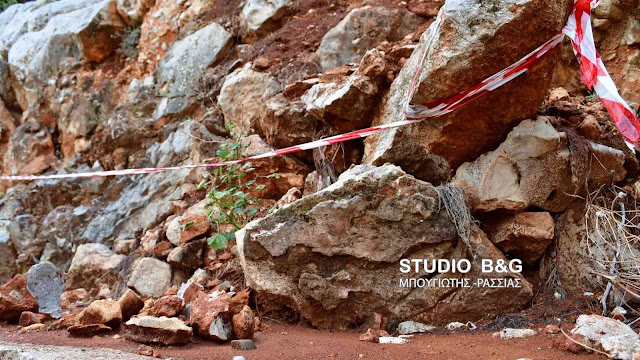 Ναύπλιο: Πτώσεις βράχων στην Ακροναυπλία (βίντεο)