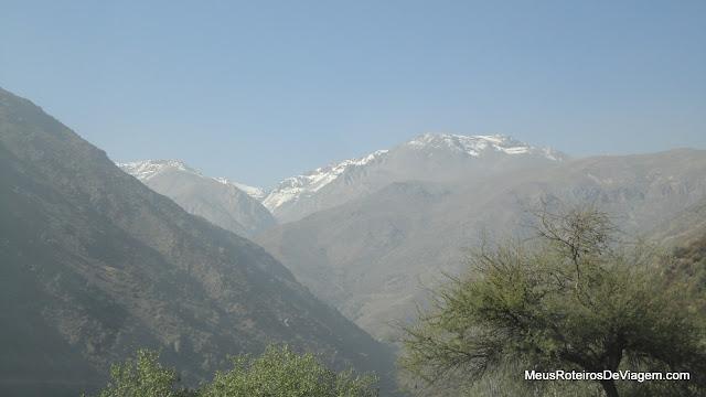 As primeiras montanhas com neve - Valle Nevado