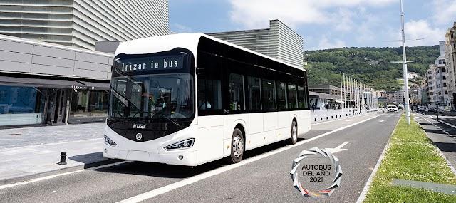 El Irizar ie fue bus galardonado con el premio Autobús del Año 2021