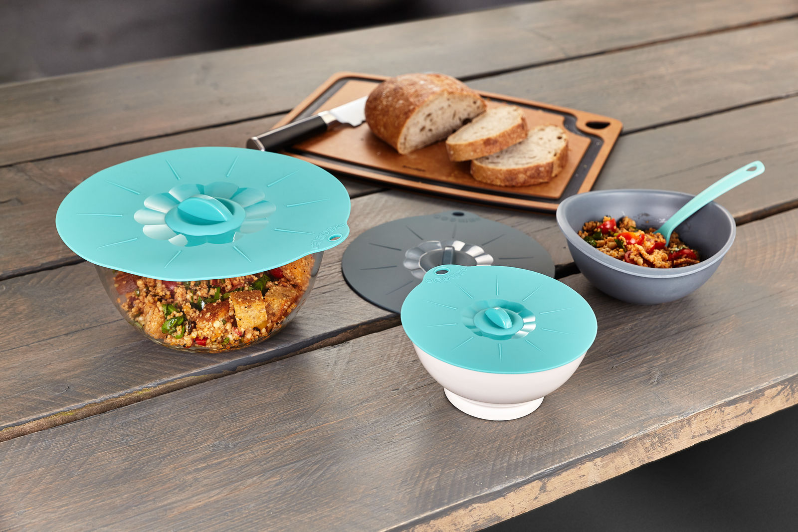 Reusuable silicone bowl covers
