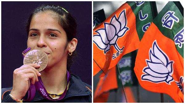 News, National, India, New Delhi, BJP, Badminton, Sports, Aam Aadmi Party, Badminton Star Saina Nehwal Enters BJP
